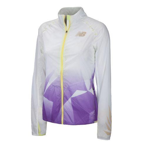 Womens New Balance Boylston Running Jackets - Amethyst S