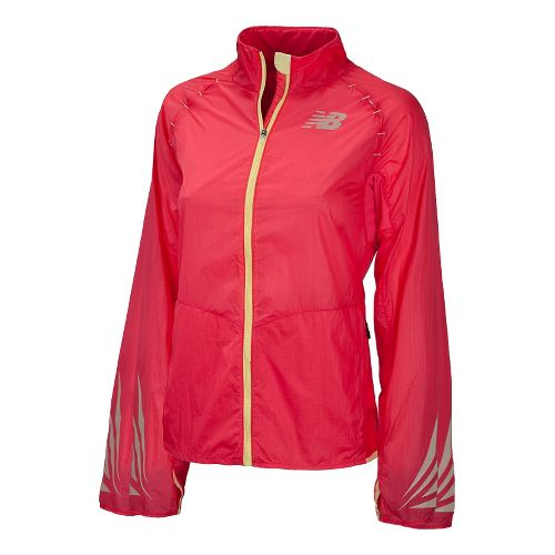 Womens New Balance Boylston Running Jackets - Watermelon S