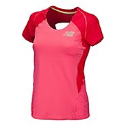 Womens New Balance Boylston Short Sleeve Technical Tops
