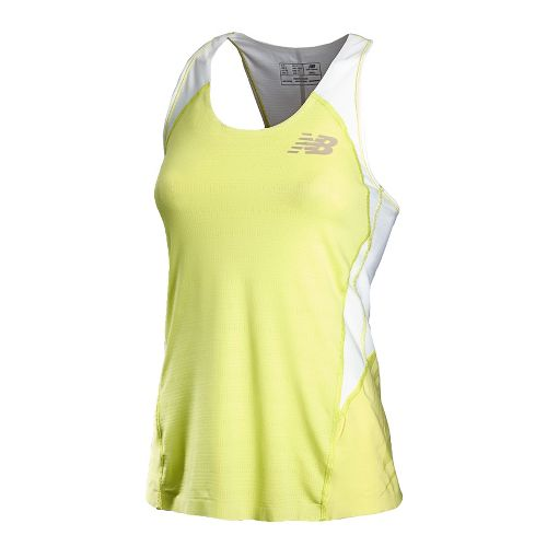 Womens New Balance Boylston Singlets Technical Tops - Sunny Lime L