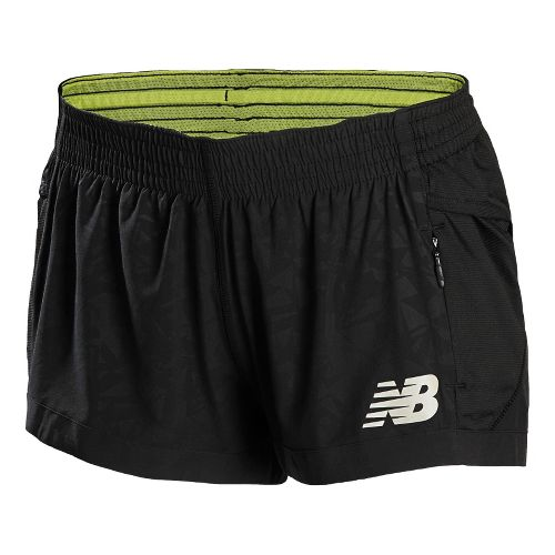 Womens New Balance Boylston Short Shorts - Black L