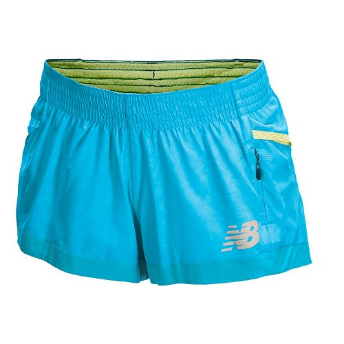 Womens New Balance Boylston Short Shorts - Blue Infinity L