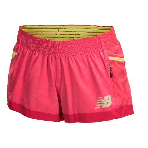 Womens New Balance Boylston Short Shorts - Watermelon XS