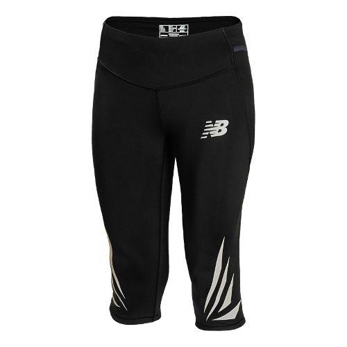 Womens New Balance Boylston Capri Pants - Black XL