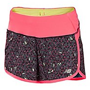 """Womens New Balance Impact 4"""" Graphic Lined Shorts"""