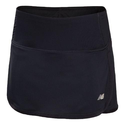 Womens New Balance Impact Skort Fitness Skirts - Black XS