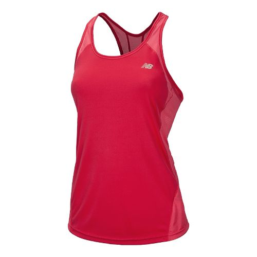 Womens New Balance Momentum Racerback Tanks Technical Tops - Ruby XS