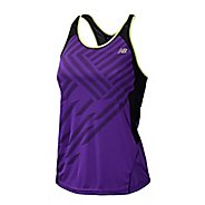 Womens New Balance Momentum Racerback Print Tanks Technical Tops