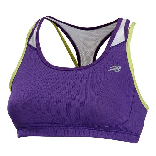 Womens New Balance Tonic Crop Sports Bras - Amethyst S