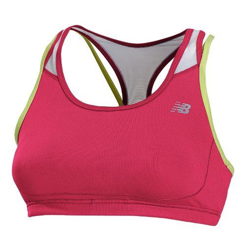 Womens New Balance Tonic Crop Sports Bras - Ruby XS