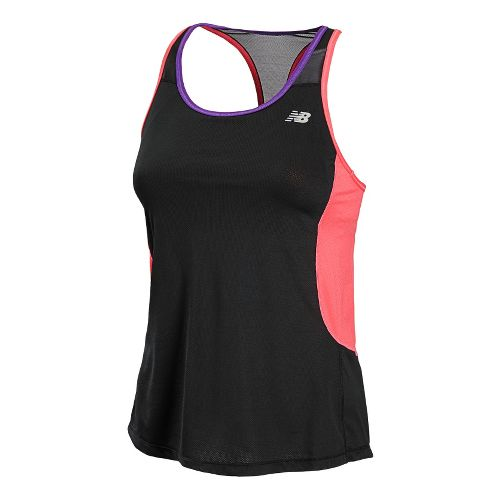 Womens New Balance Tonic Sport Top Bras - Black/Watermelon XS