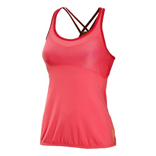 Womens New Balance Crossover Racerback Sport Top Bras - Watermelon S