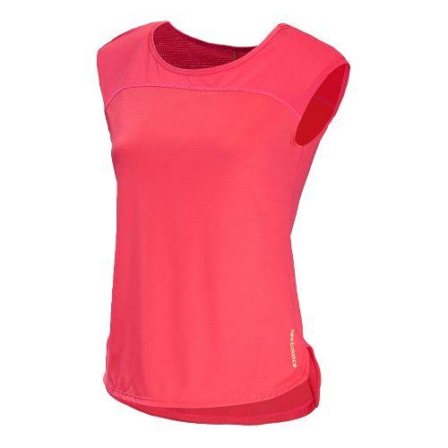 Womens New Balance Excel Short Sleeve Technical Tops - Watermelon XL