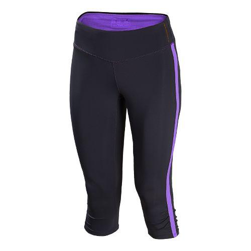 Womens New Balance Excel Capri Tights - Amethyst XL