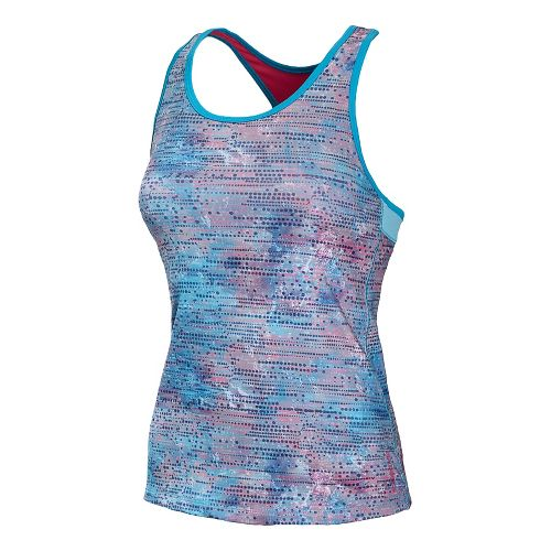 Womens New Balance Get Back Racerback Sport Top Bras - Blue Infinity L