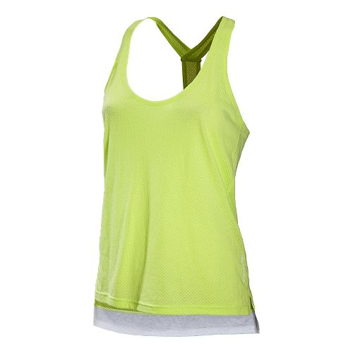 Womens New Balance Inspire Layering Tanks Technical Tops - Sunny Lime S