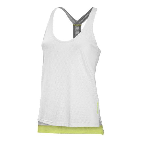 Womens New Balance Inspire Layering Tanks Technical Tops - White S