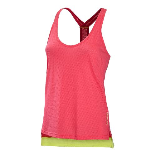 Womens New Balance Inspire Layering Tanks Technical Tops - Watermelon L
