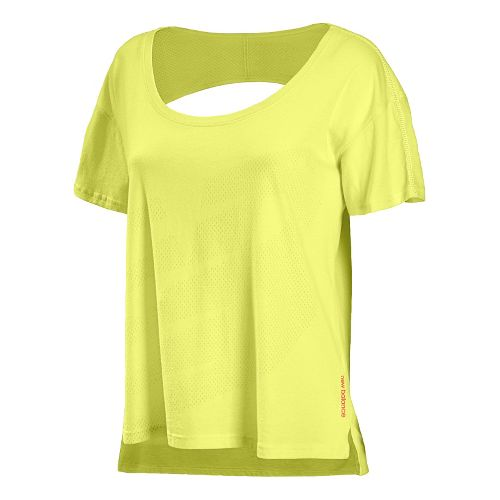 Womens New Balance Inspire Layering Tee Short Sleeve Technical Tops - Sunny Lime S