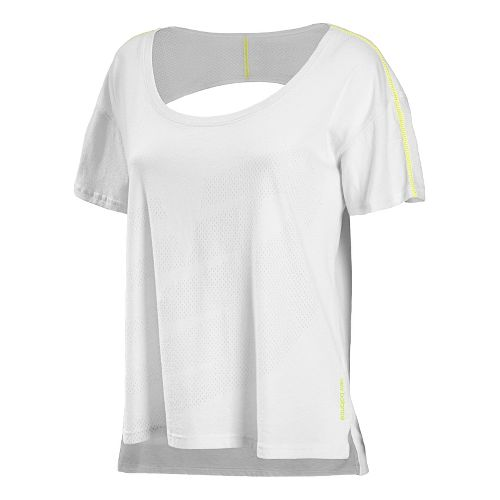 Womens New Balance Inspire Layering Tee Short Sleeve Technical Tops - White XS