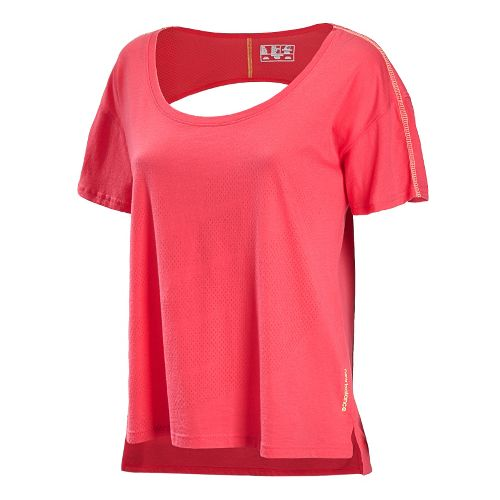 Womens New Balance Inspire Layering Tee Short Sleeve Technical Tops - Watermelon XS
