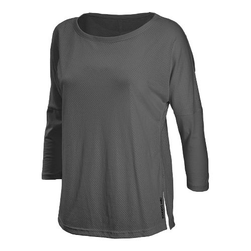 Womens New Balance Inspire 3/4 Sleeve Coverup Long Sleeve No Zip Technical Tops - Magnet ...