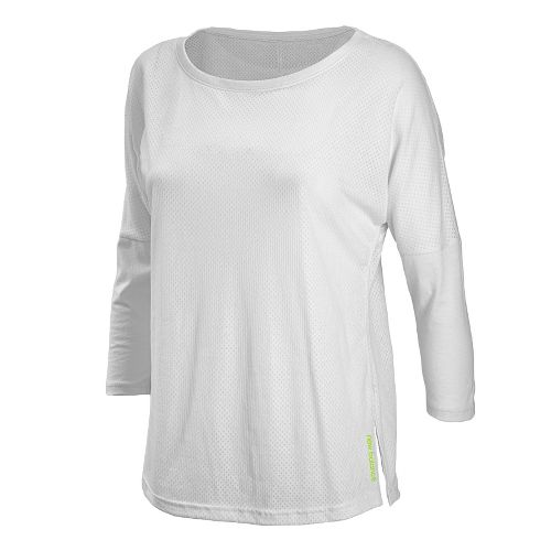 Womens New Balance Inspire 3/4 Sleeve Coverup Long Sleeve No Zip Technical Tops - White ...