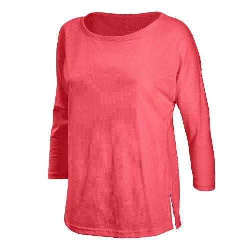 Womens New Balance Inspire 3/4 Sleeve Coverup Long Sleeve No Zip Technical Tops - Watermelon ...