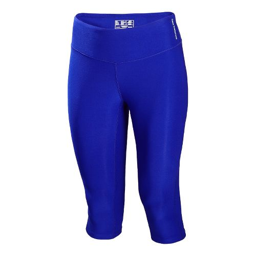 Womens New Balance Ultimate Knee Capri Tights - UV Blue XS