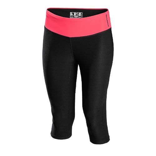 Womens New Balance The Form Fitter Capri Tights - Black Bright Cherry M