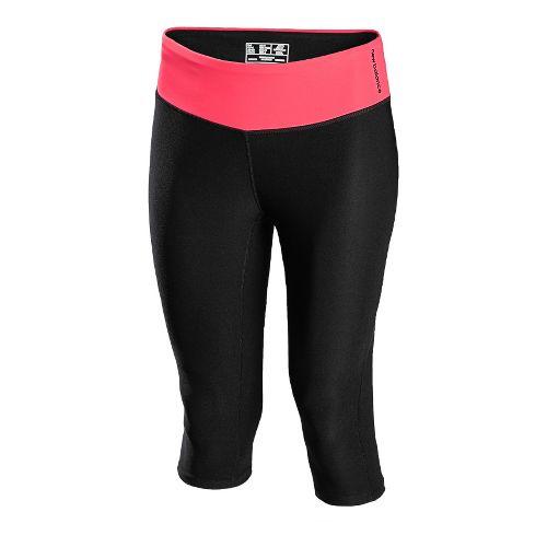 Womens New Balance The Form Fitter Capri Tights - Black Bright Cherry XS