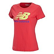 Womens New Balance Essentials Tee Short Sleeve Technical Tops
