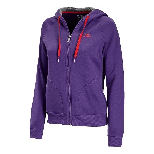 Womens New Balance Essentials Full Zip Running Jackets - Amethyst L