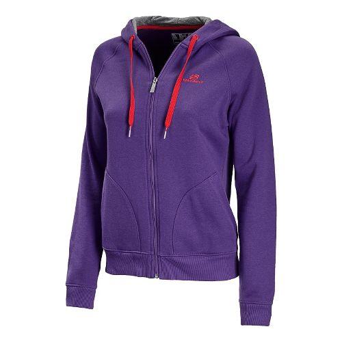 Womens New Balance Essentials Full Zip Running Jackets - Amethyst M