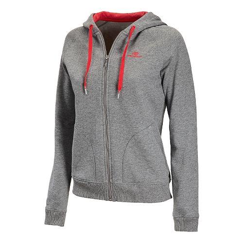 Womens New Balance Essentials Full Zip Running Jackets - Heather Grey XS