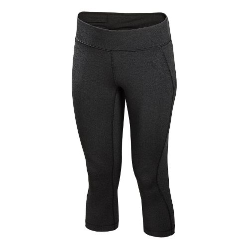 Womens New Balance Spree Capri Tights - Black Heather L