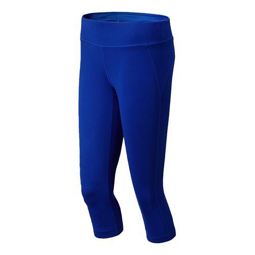 Womens New Balance Spree Capri Tights - Marine Blue L