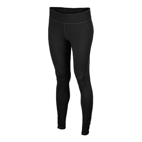 Womens New Balance Spree Shirred Fitted Tights - Black XS
