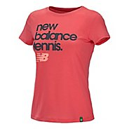 Womens New Balance Flipside Crew Short Sleeve Technical Tops