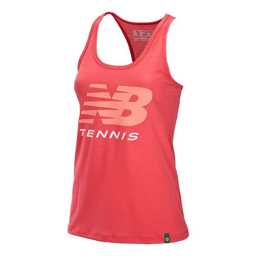 Womens New Balance Big Brand Tennis Tanks Technical Tops - Watermelon XL