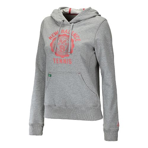 Womens New Balance Bookstore Hoody Long Sleeve No Zip Technical Tops - Heather Grey XS ...