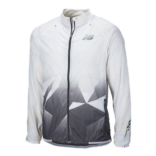 Mens New Balance Bolyston Running Jackets - White XS
