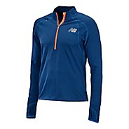 Mens New Balance Boylston Long Sleeve 1/2 Zip Technical Tops