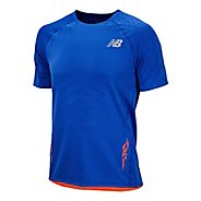 Mens New Balance Boylston Short Sleeve Technical Tops