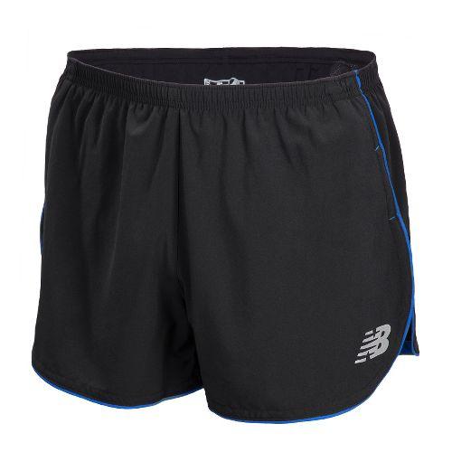 Mens New Balance Boylston Split Lined Shorts - Black L