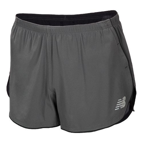 Mens New Balance Boylston Split Lined Shorts - Magnet XL