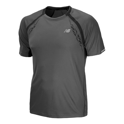 Mens New Balance Impact Short Sleeve Technical Tops - Magnet XXL
