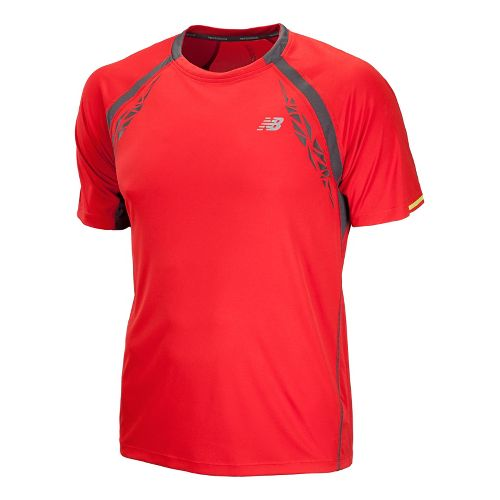 Mens New Balance Impact Short Sleeve Technical Tops - Velocity Red S