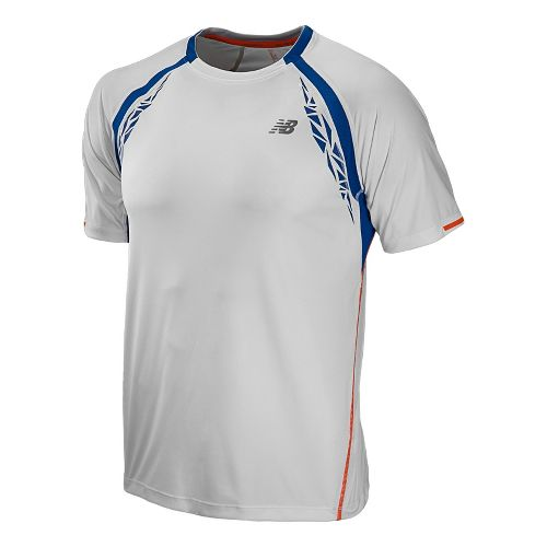 Mens New Balance Impact Short Sleeve Technical Tops - White M