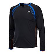 Mens New Balance Impact Long Sleeve No Zip Technical Tops